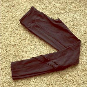 Lululemon leggings with ruffle